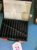 Quantity of drill bits in boxes