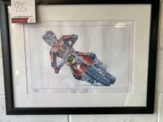 Framed limited edition print Thierry Van Den Bosch champion 2004