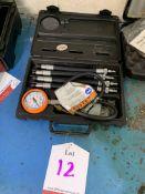 Snap on motorcycle compression gauge set