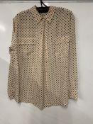 Equipment femme signature heart print washed silk shirt | RRP 85.00