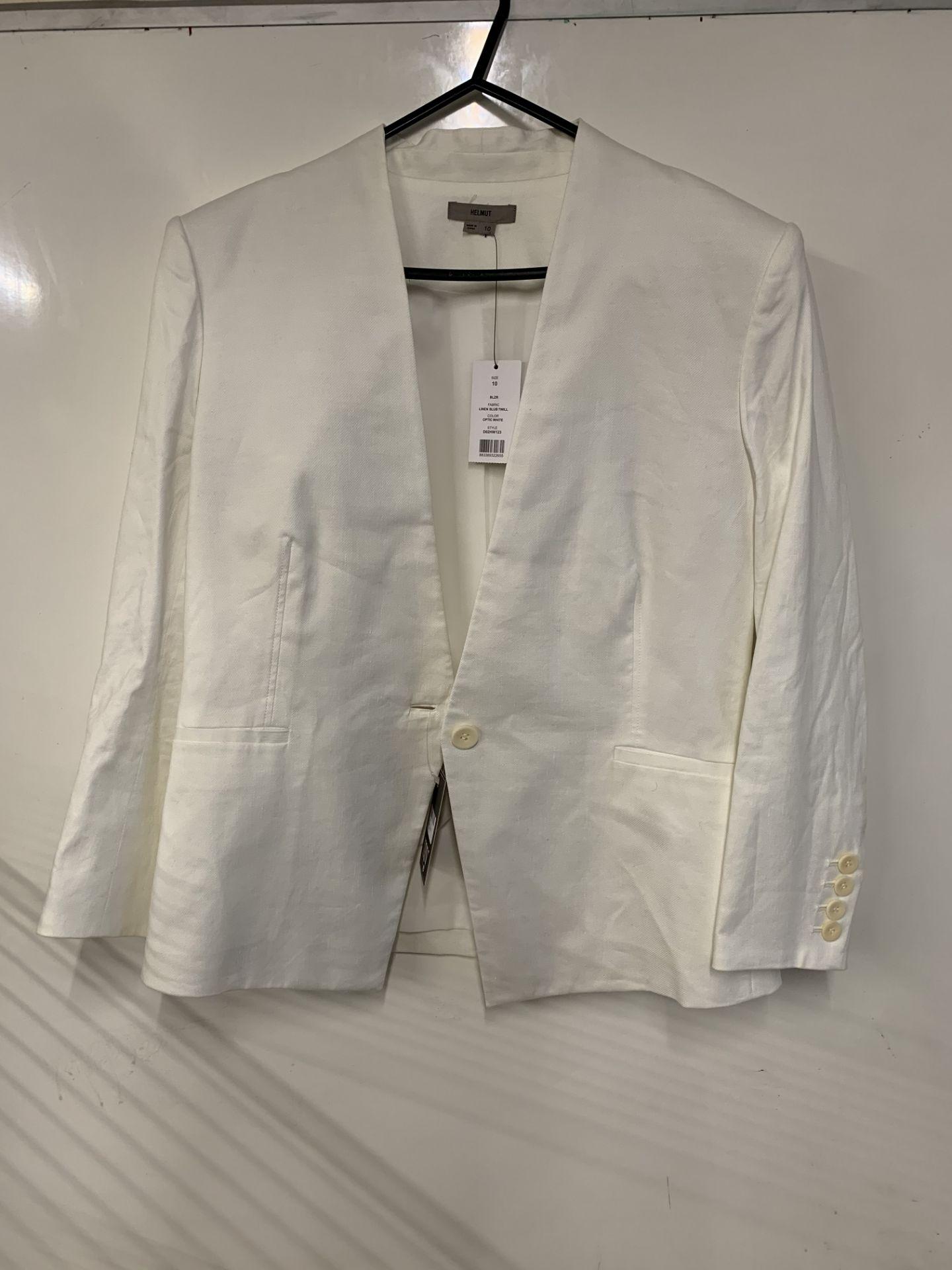 Lot 25 - Helmut Lang linen slub twill blazer | RRP £355.00