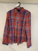 J Crew Perfect Top Plaid 4 Button Blouse
