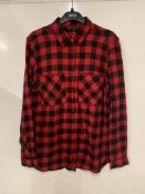 M&S collection fleece lined ombre check overshirt | RRP £28.00