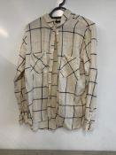 Topshop tall women's white chequered shirt
