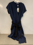 Finery Sanford navy obi belt wrap dress | RRP £94.00