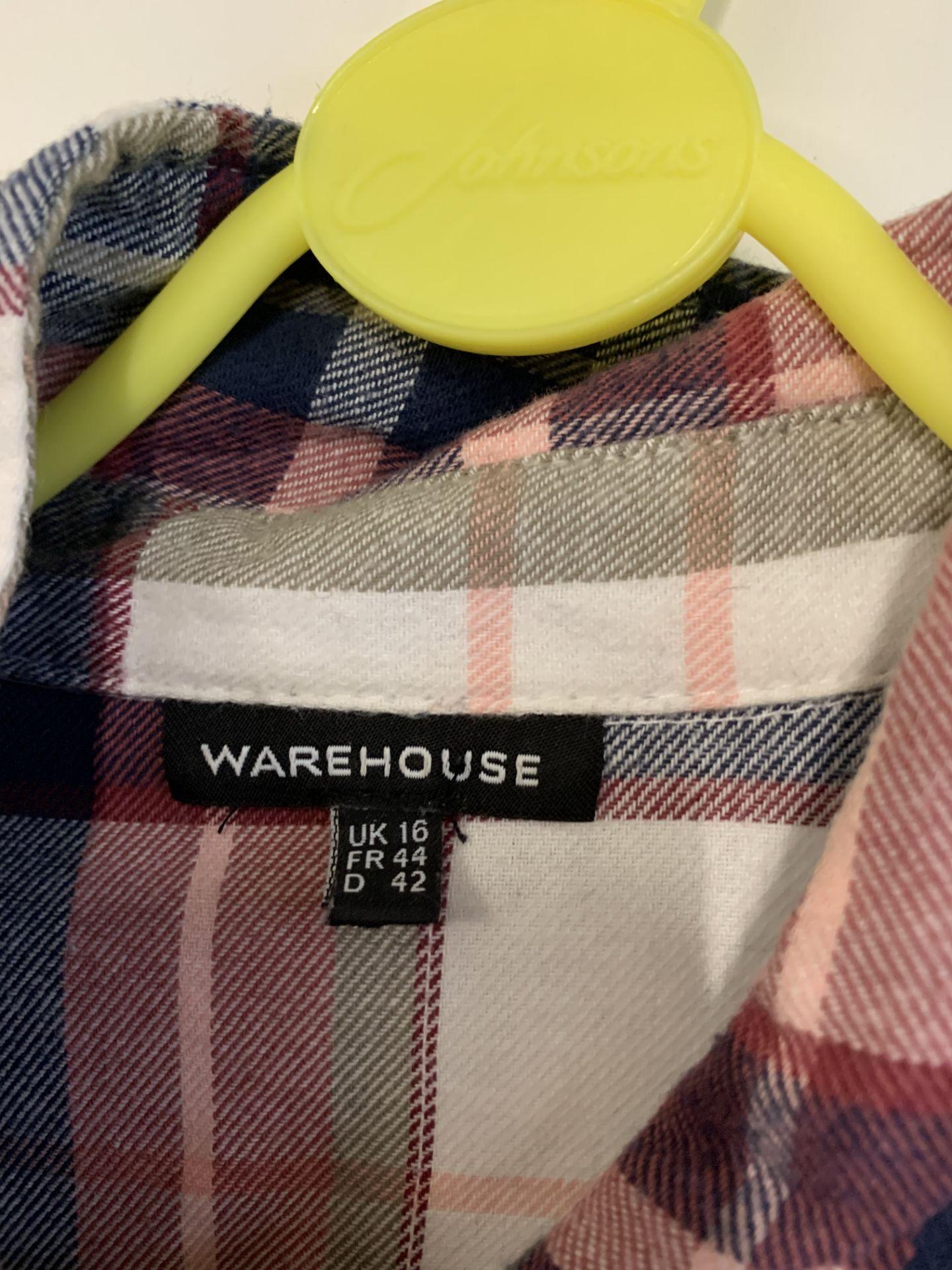 Lot 56 - Warehouse women's chequered long sleeve shirt