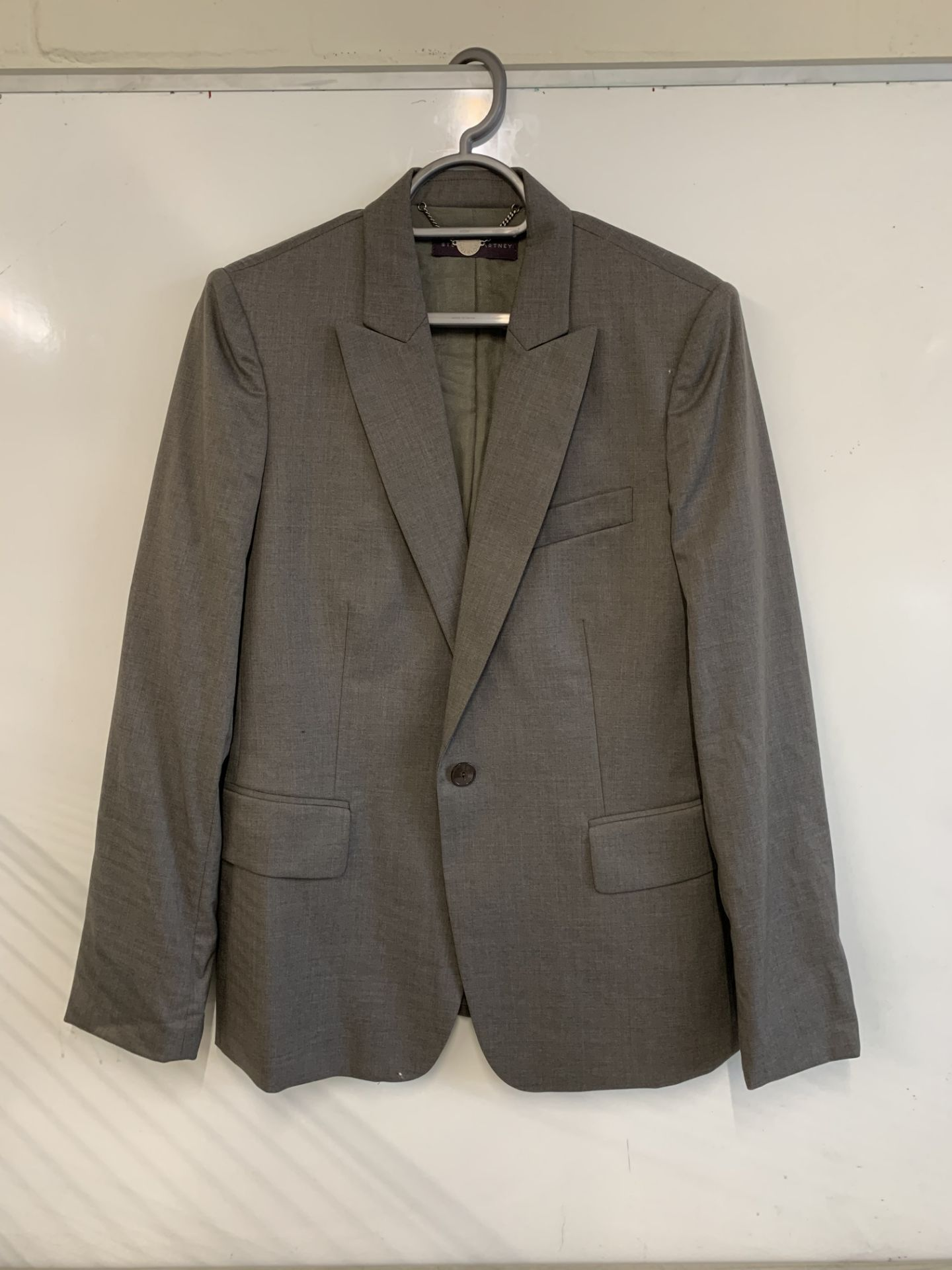 Lot 12 - Stella McCartney Grey Wool Blazer RRP £998.00
