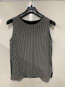 Paul Smith sleeveless triangular pattern top