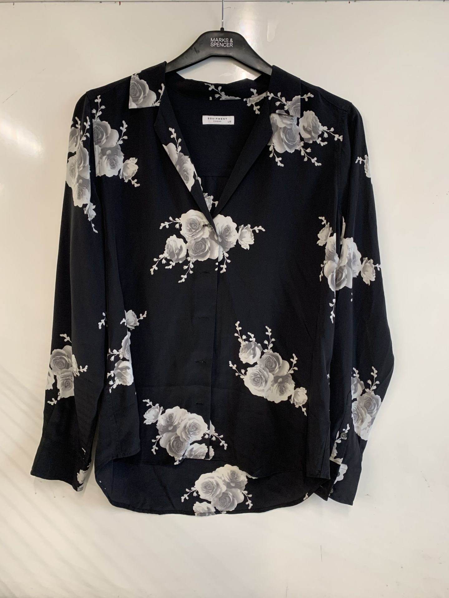 Lot 4 - Adalyn Print Silk Blouse | RRP £199.00
