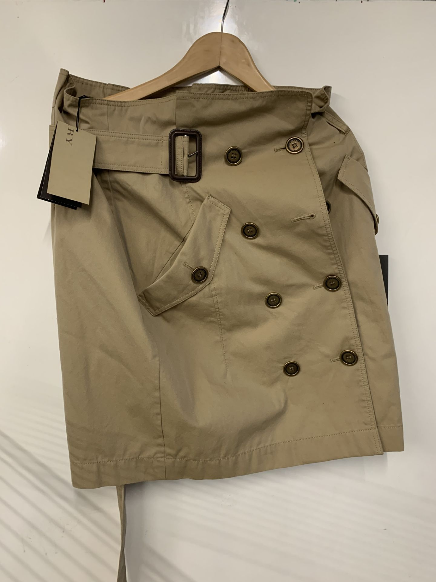 Lot 27 - Burberry Brit women's Natural Cotton Gabardine Trench Skirt