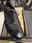 Bottega Venetta Black Men's Brogue Style Shoes