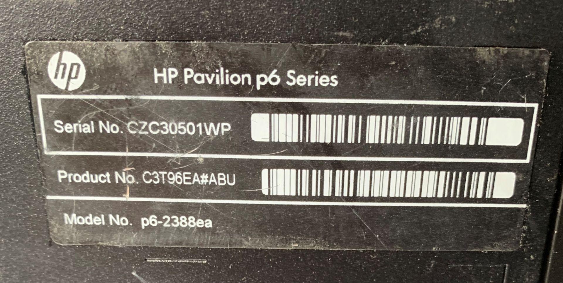 Lot 7 - HP Pavillion P6 Desktop Computer | AMD A10-5700 APU w/ Radeon HD Graphics