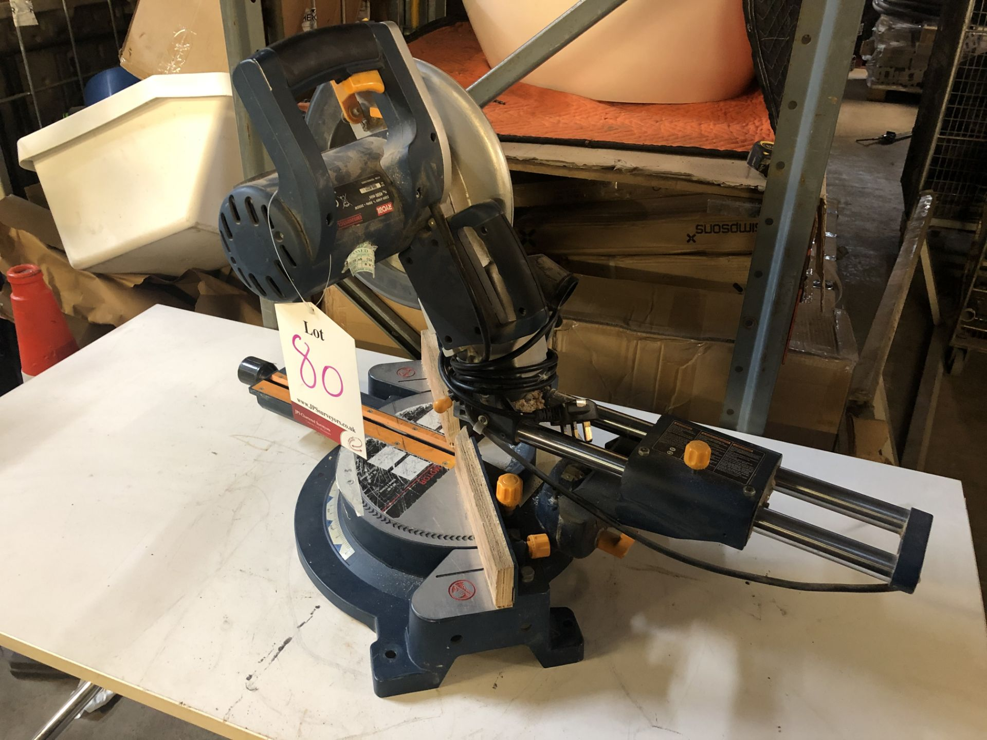 Lot 80 - Ryobi EMS2025SCL Sliding Compound Mitre Saw
