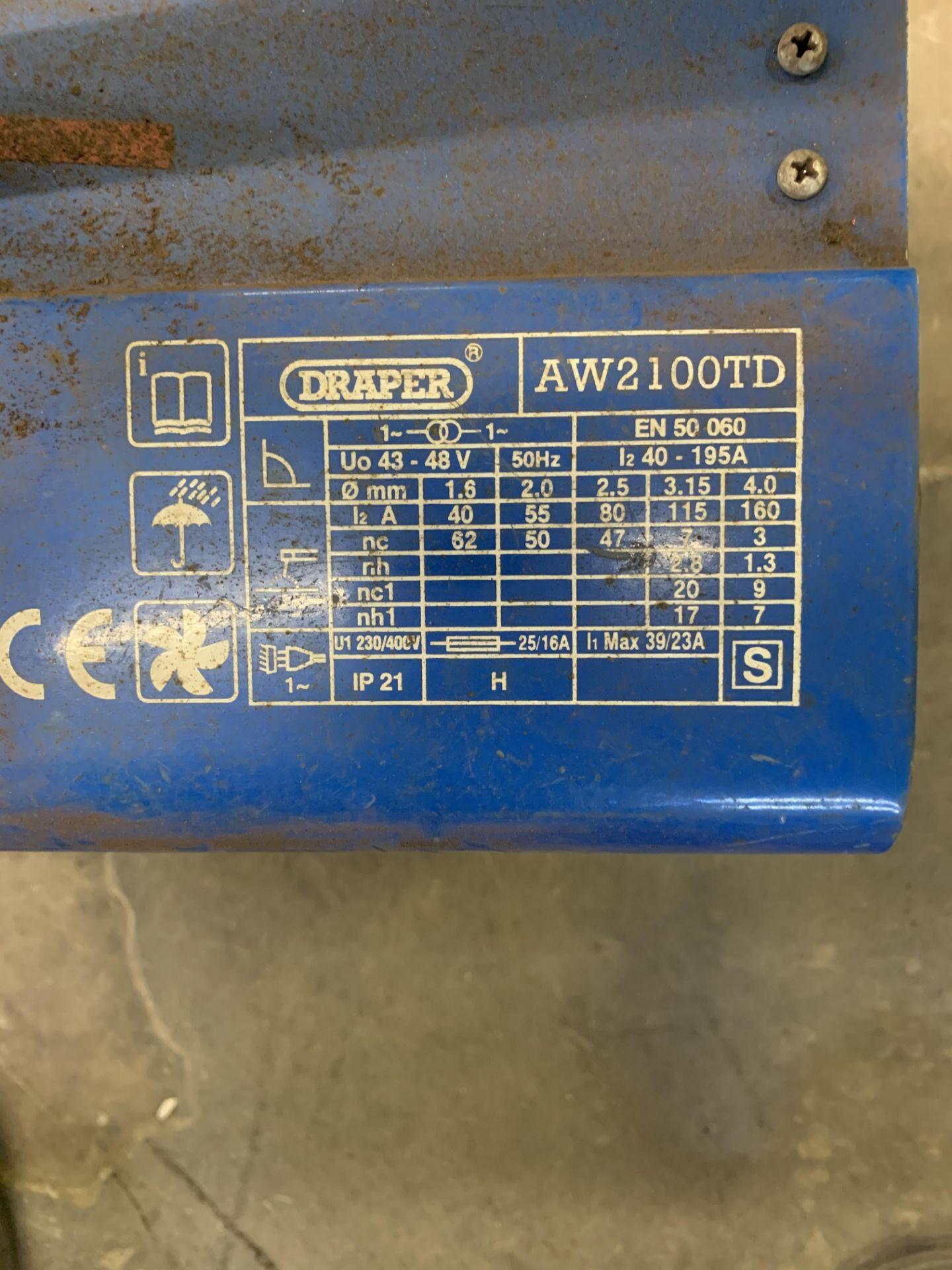 Lot 13 - Draper AW2100TD Turbo Arc Welder