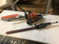 Stihl D18 Petrol Chainsaw & Various Garden Attachments