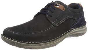 Josef Seibel Men's Anvers 75 Derbys, Blue (Ocean), 8 UK (42 EU) 9 UK Wide Men's 43629 TE21_530 |4056
