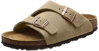 Birkenstock Unisex Zürich Suede Leather Sandals Soft-Footbed Regular Mocca Size EU 36 - UK L3.5 3.5