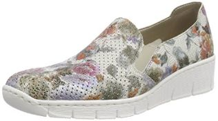 Rieker Women's 537A5 Loafers, Multicolour (Weiss-Multi 90), 6.5 UK 6.5 UK Women's 537A5_90 |40599546