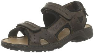 Rieker Men's 26061/25 Fashion Sandals Brown Brown 7.5 9.5 UK Men's 26061_nougat/schwarz/nougat / 25