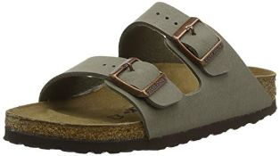 Birkenstock Classic Arizona Eva, Unisex-Adults' Sandals, Grey (STONE), 7.5 UK (41 EU) 10 UK Narrow U