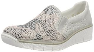 Rieker Women's 537T1 Loafers, Grey (Fog 40), 8 UK 6.5 UK Women's 537T1_40 |4059954610625