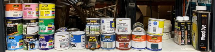 30 x 250ML tins of rustins tins of paint