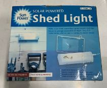 3 x Sun power solar powered shed light's