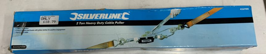 Silverline 2 ton heavy duty cable puller