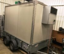 Walk-in Fridge/Freezer on Ifor Williams GD106FF Twin Axle 10 x 6 Trailer | YOM: 2016
