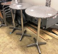 3 x Stainless Steel Bar Tables