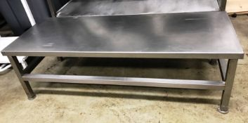 Stainless Steel Low Height Preparation Table | 118cm x 45cm x 34cm