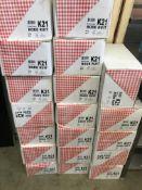 30 x Puntzak K21 Disposable Paper Cones in Red/White