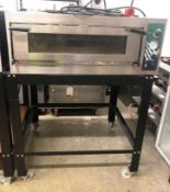Hostek Dual 4 New Wide Single Deck Pizza Oven on Mobile Stand | YOM: 2018