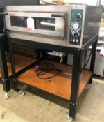 Hostek Dual 4 New Wide Single Deck Pizza Oven on Mobile Stand | YOM: 2016
