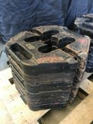 6 x Vitrabri 15kg Weight Plates