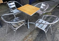 Outdoor Dining Set - Includes Table & 4 x Patio Chairs
