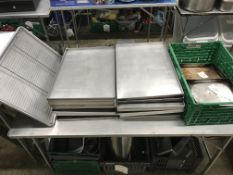 42 x Stainless Steel Baking Trays | Various Sizes