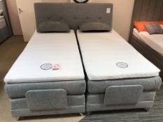 Ex Display Hestia Stockholm Latex/Memory Foam Motion Plus Super King Bed Set w/ Adjustable Bed Frame