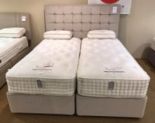 Ex Display Harrison Santiago 12200 Super King Size Mattress w/ Deep Base Bed Frame & Headboard in Po