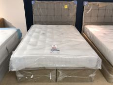 New Relyon Matisse King Mattress w/ Jasper Otterman Frame & Headboard in Shetland Mercury | RRP£1,51