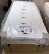 New MiBed Larissa Single/3ft Mattress w/ Wheat Base | RRP£819