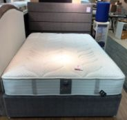 Ex Display Sealy Helena King Mattress w/ 2 Drawer Bed Frame & Monet Headboard in Malt | RRP£2,046