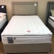 Ex Display Sealy Messina Latex 1400 Double Mattress w/ 4 Drawer Bed Frame & Headboard in Fawn | RRP£