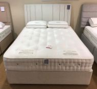 Ex Display Harrison Havana 6200 King Mattress w/ Shallow Divan Set Medium/Firm & Headboard in Bison