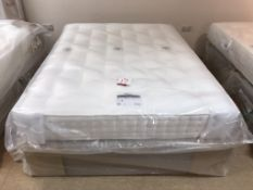 New Relyon Matisse King Size Mattress w/ Eaton 2 Drawer Bed Frame in Taupe