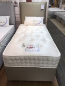 Ex Display Sweet Dreams Phoebe 1000 Pocket Single Mattress w/ 2 Drawer Bed Frame & Headboard
