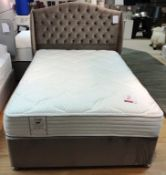 Ex Display Sealy Alder Memory Double Mattress w/ 2 Drawer Bed Frame & Richmond Headboard in Mink | R