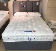 Ex Display Hypnos Orthocare 10 King Size Mattress w/ 2 Drawer Bed Frame & Euro Slim Headboard in Twe