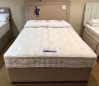 Ex Display Hypnos Orthocare 8 King Size Mattress w/ Bed Frame & Slim/Wide Headboard - Biscuit Weave