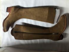 Fairfax And Favor Suede Heeled Regina Boots. EU 36 RRP £345.00